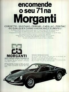 propaganda Morganti - 1970; os anos 70; brazilian cars in the 70s; Oswaldo Hernandez; década de 70;