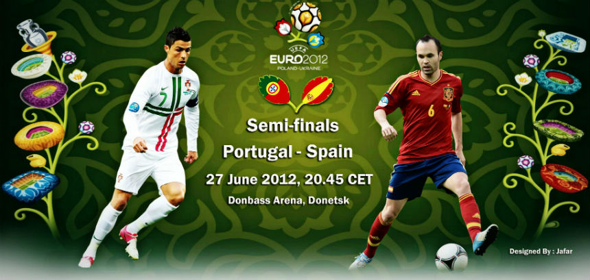 Spain Portugal live today Euro 2012