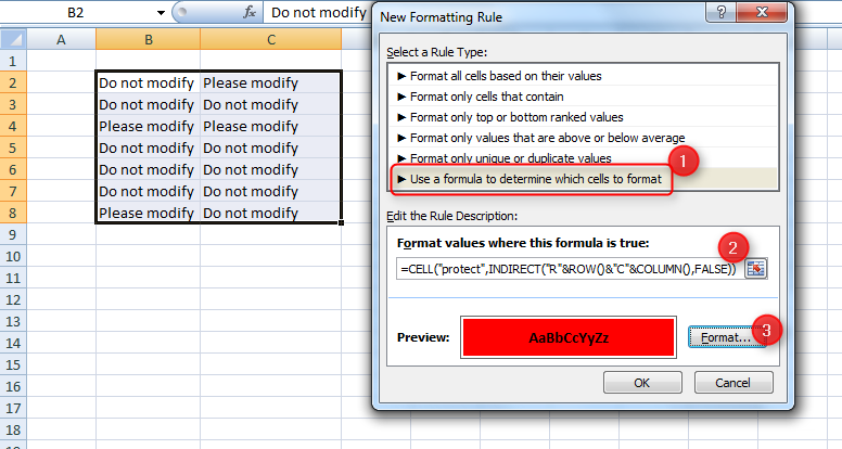 Highlight Protected Cells in an Excel Worksheet   Dennis Somerville