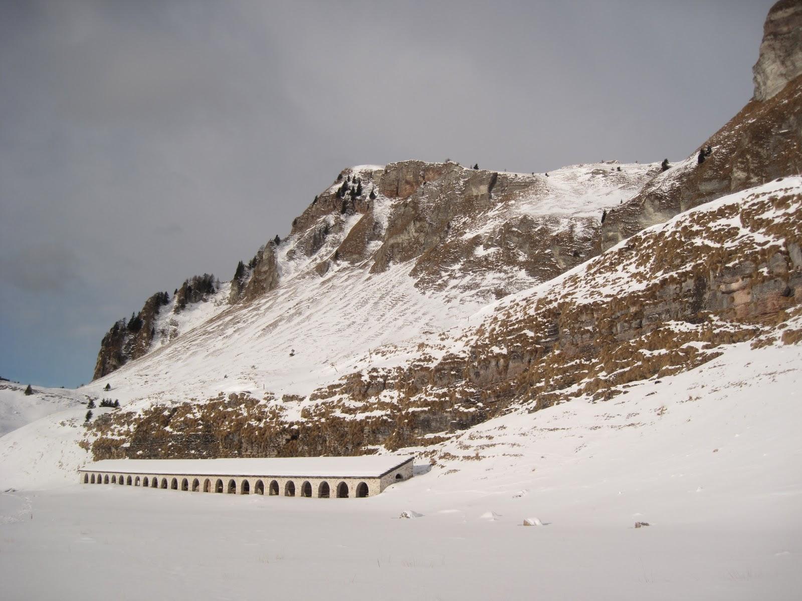 Gruppo amici della montagna di maser invernale ai piani for Piani di montagna moderni