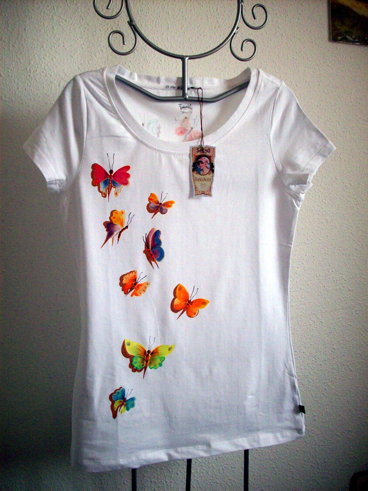 El pa s de babia camisetas pintadas a mano en el pa s de babia informaci n de precios - Plantillas para pintar camisetas a mano ...