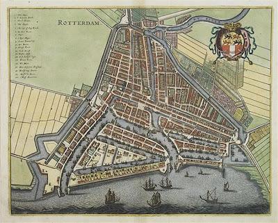 Mapa de Rotterdam del siglo XVII