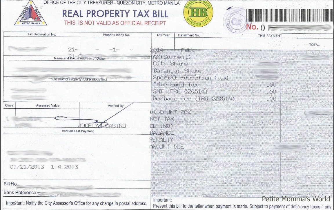 Tax Declaration Of Real Property Sample