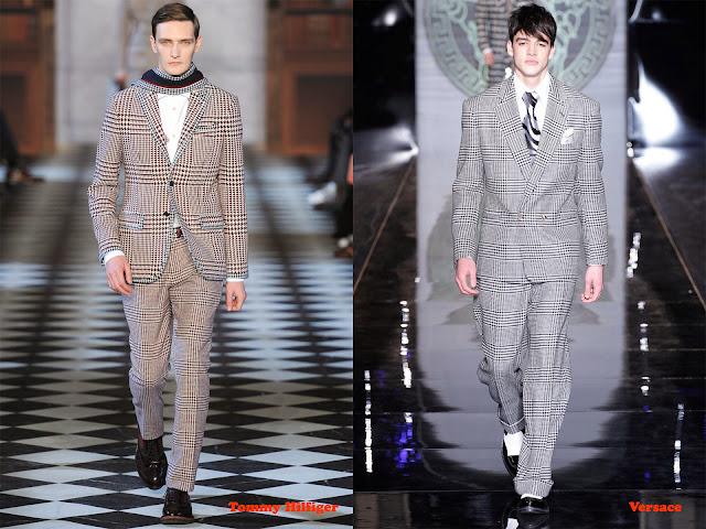 Tendencia otoño_invierno 2013-14 tejido pata de gallo: Tommy Hilfiger y Versace