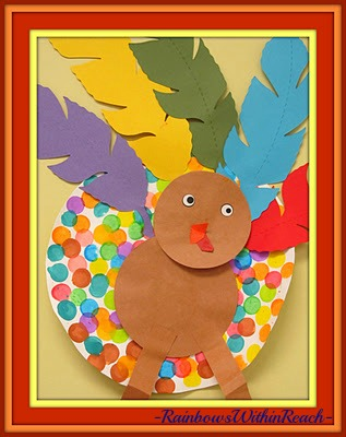 photo of: Turkey Art for Thanksgiving at PreK+K Sharing