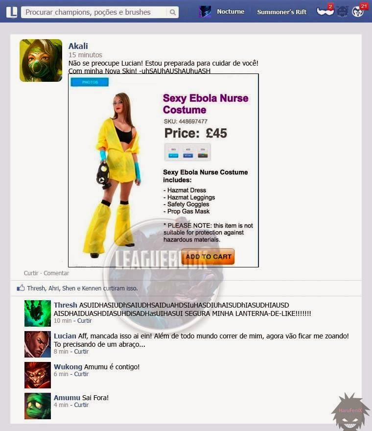 Akali Trollando Lucian, leaguebook, ebola, akali enfermeira, akali nurse skin, nova skin da akali