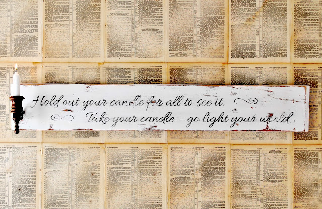 Go Light Your World Sign-Chris Rice-via Knick of Time Interiors