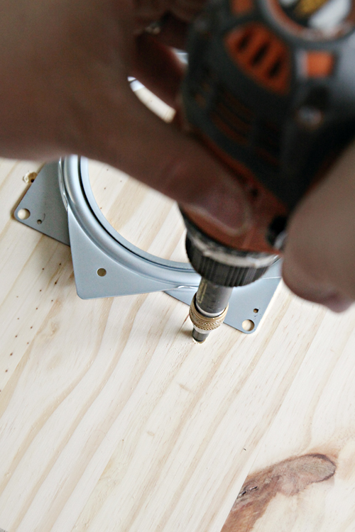 The Screws Were Just The Right Length To Go Through The Top Of The Board  And Through The First Layer Of The Lazy Susan Hardware (allowing The Second  Layer ...