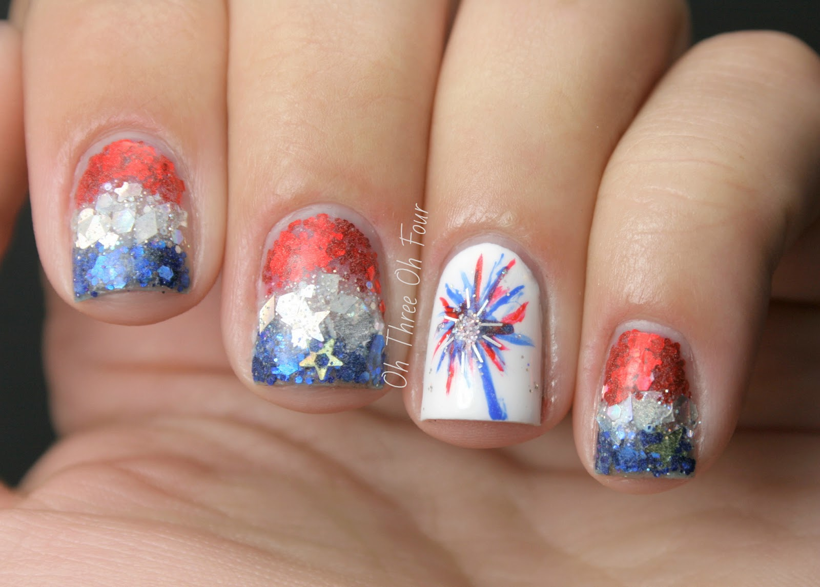 Oh Three Oh Four: 4th of July Manicure