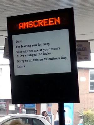 woman dumps boyfriend valentine's day