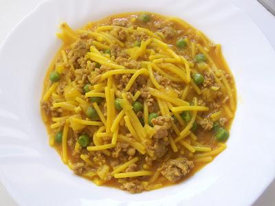 Las recetas de pepejo fideos con carne picada y guisantes - Que cocinar con carne picada ...