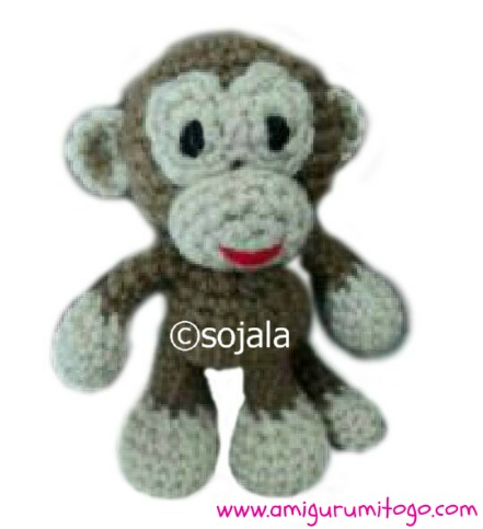 Monkey Free Crochet Pattern ~ Amigurumi To Go