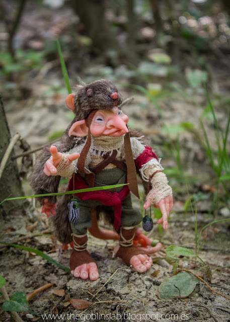 ooak fantasy creature fae elf messenger maab