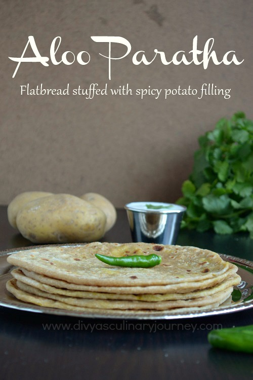 Paratha stuffed with spicy potato filling