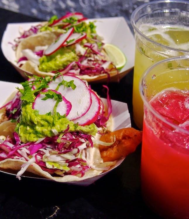 Kesäisiä tacoja rantafiiliksissä