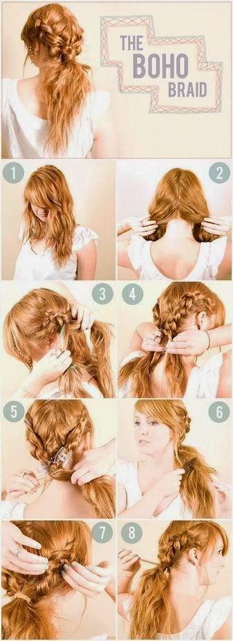 DIY Boho Braid Hairstyle