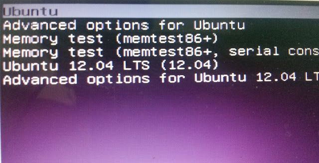 ubuntu 12.10 grub boot menu simplified