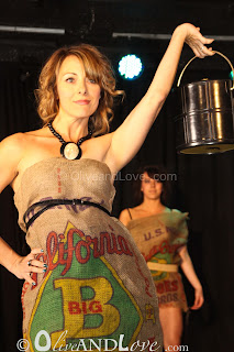 trashion show potato sack dress