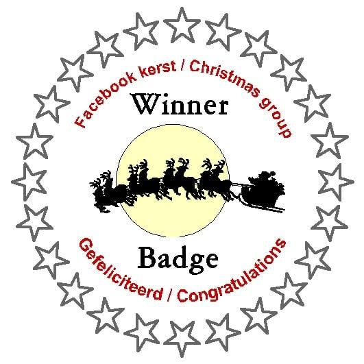 Gewonnen bij de FB groep Kerst/Christmas