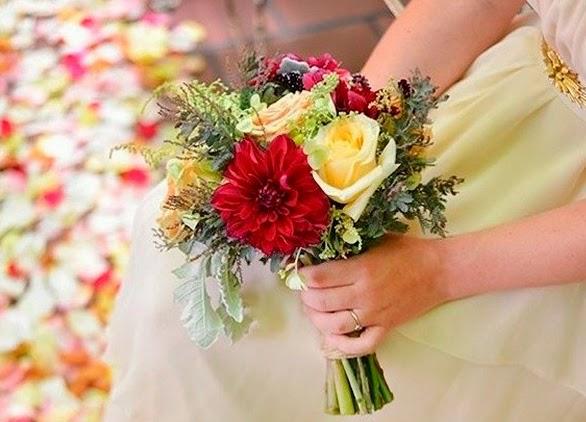 ramos de novia floristería rafia