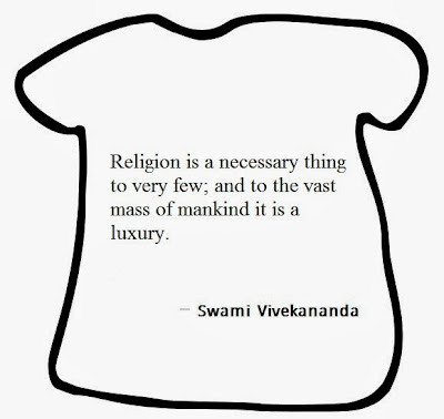 Religion is a necessary thing to very few; and to the vast mass of mankind it is a luxury.