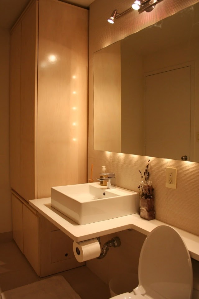 Bathroom Mirrors With Led Lights Wall Lamps Above Rectangular Mirror