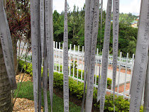 Rwanda Genocide Memorial, Kigali: Ribbons with names and 250,000+ victims buried behind