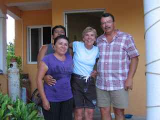 With Juan and Paula at their home in Miraflores, Isla Mujeres