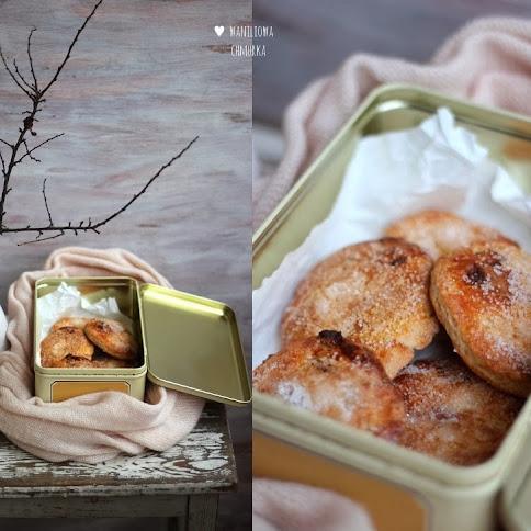 Ciasteczka z rodzynkami, cukrem i cynamonem