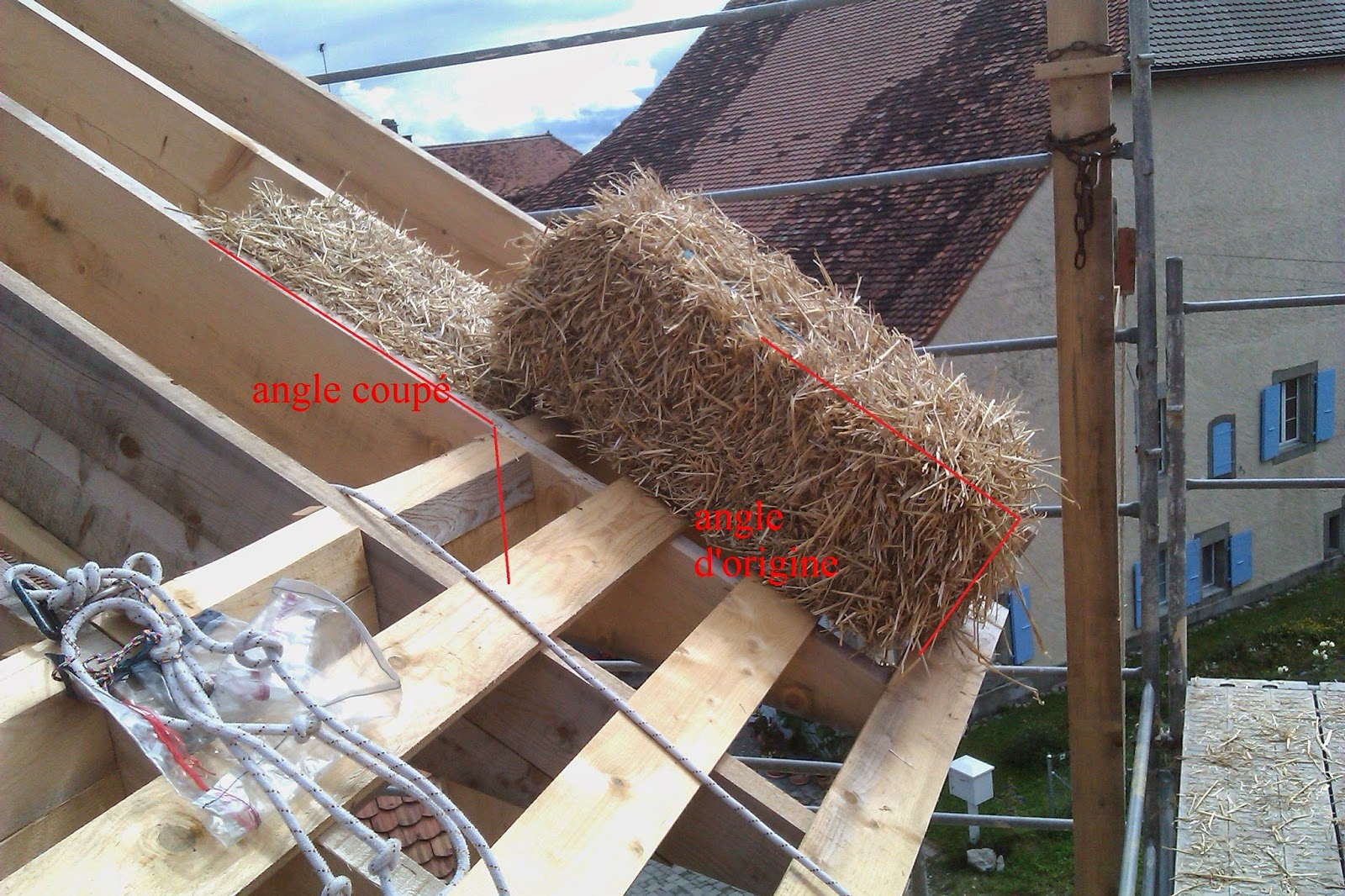 Angle toiture maison la noue ou artier de noue est la for Tuiles tiges de bottes