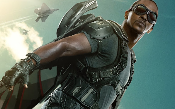 anthony mackie as sam wilson / the falcon in captain america 2
