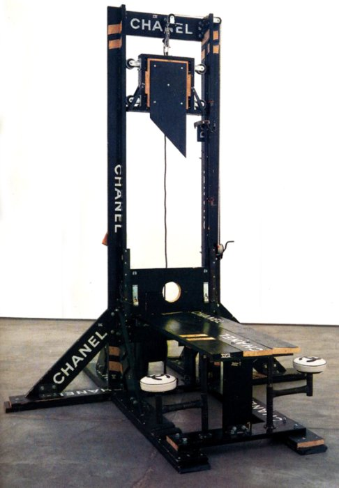 Girl On Guillotine http://conversationsfromlandsedge.blogspot.com/2011/10/funny.html