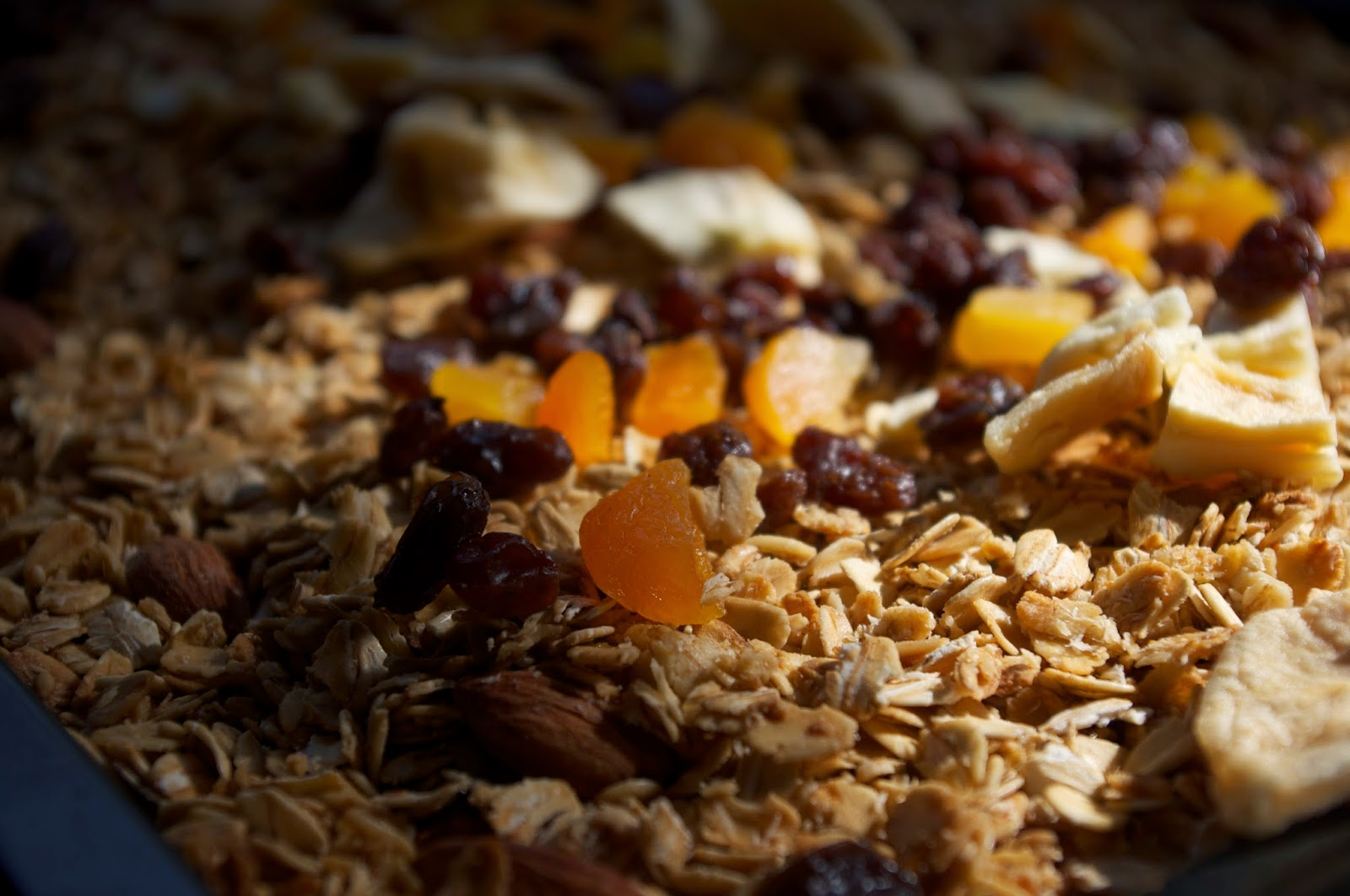 granola with apricots