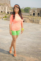 Actress Sharmila Mandre Latest Picture Gallery in Green Shorts 0008.JPG