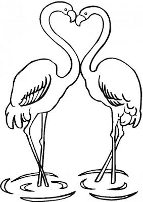 Slobbery image for flamingo printable