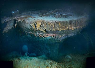 restos del titanic hundido en el atlantico