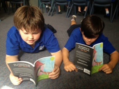 carrington public school kids reading books