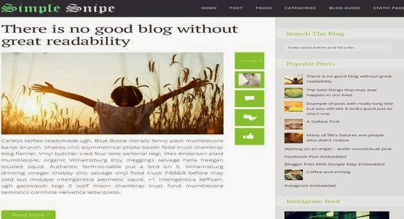 Simple Snipe Responsive Blogger Template