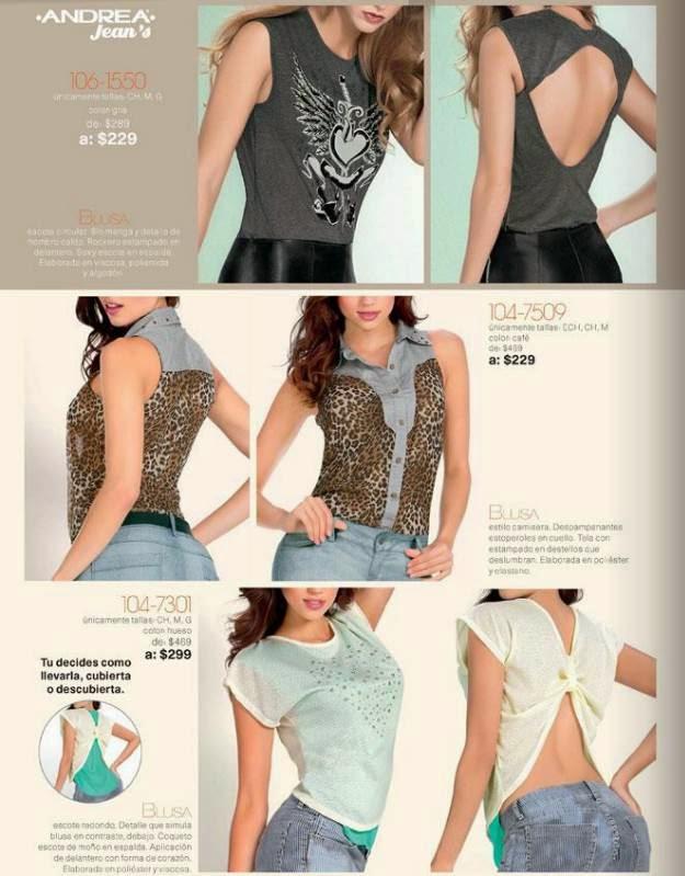 Blusas de Moda Andrea 1-2015