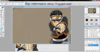 Cara Memotong Objek Gambar Pada Photoshop CS8