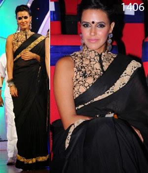 Bollywood Designer Black Saree