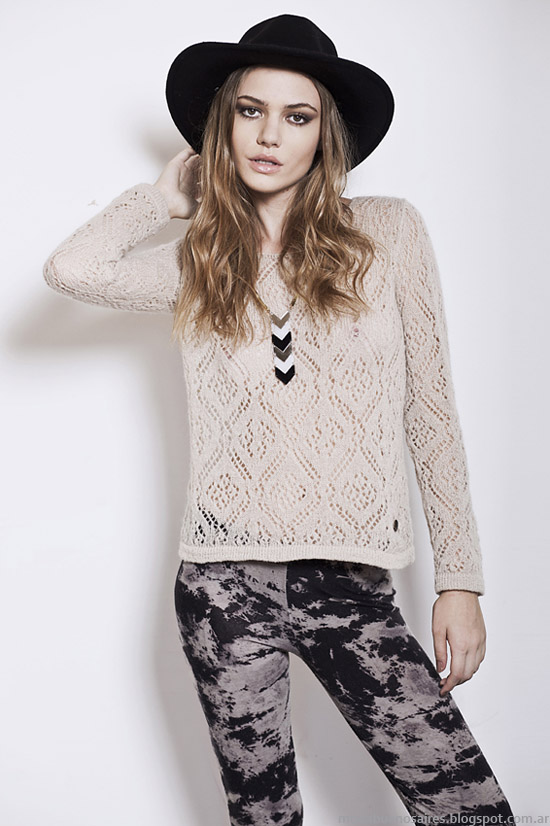 Florencia Llompart colección otoño invierno 2014. Moda sweaters tejidos invierno 2014.
