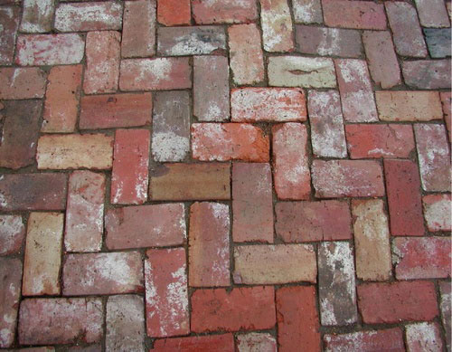 Red Paving Stones : Our french inspired home brick and cobblestone paver