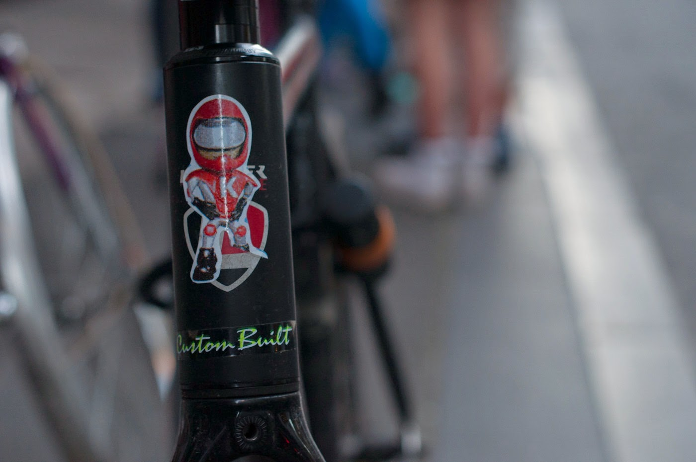 Custom, bespoke, frame, fixed speed, fixie, bike, bicycle, tim macauley, the light monkey collective, the biketorialist, Melbourne, Australia, head badge,