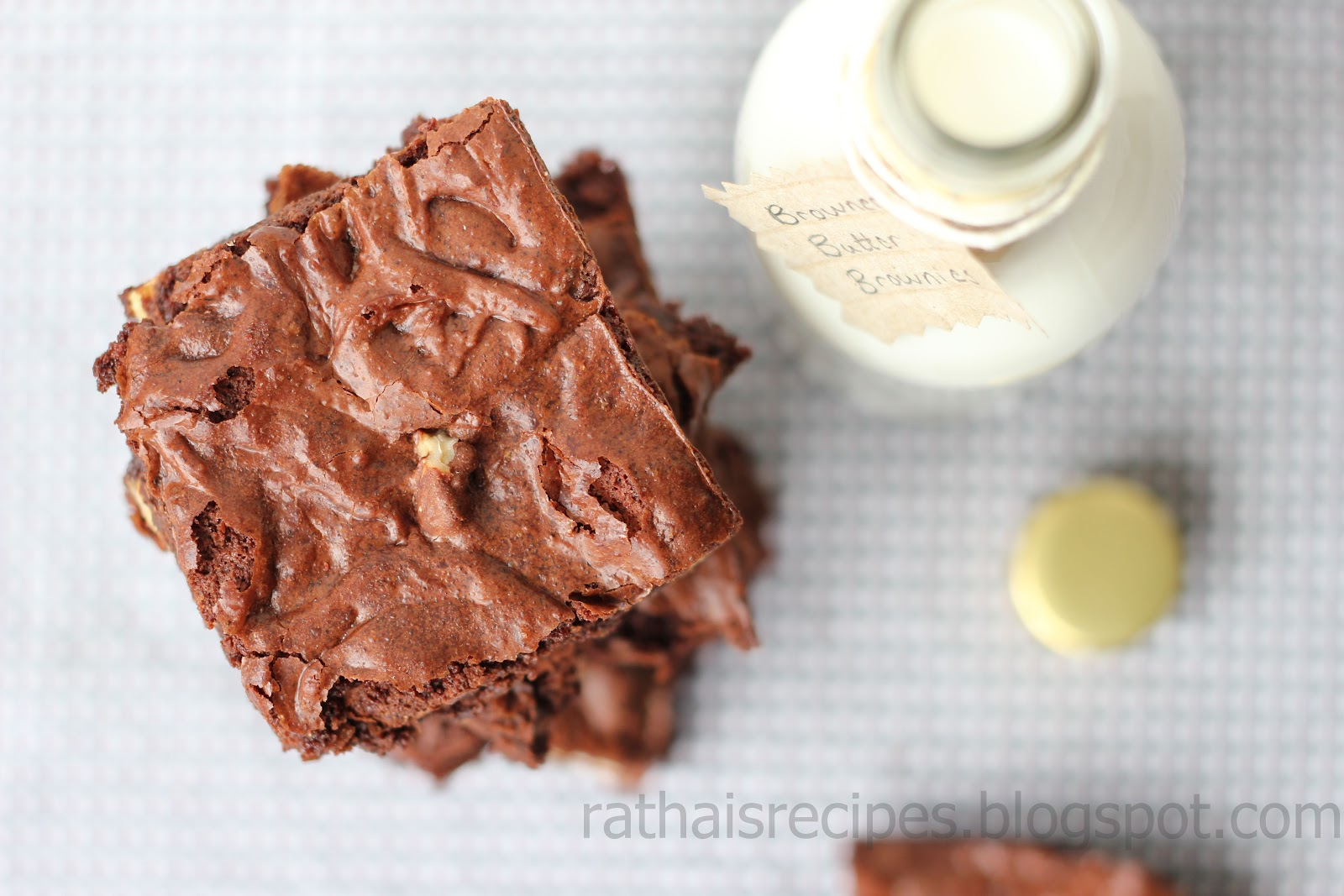 Rathai's Recipes: Browned Butter Brownies