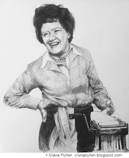 drawing of Julia Child by Ciana Pullen