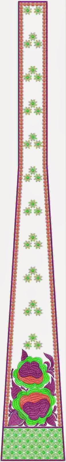 Ottomaanse klere mode veelkleurige kali appliekwerk