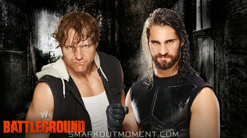 WWE Battleground Event Money in the Bank cash-in Seth Rollins vs Dean Ambrose