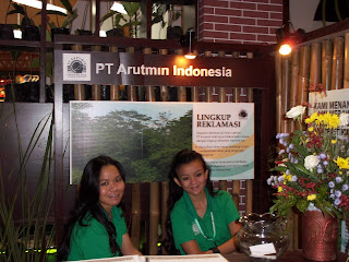 stand arutmin in indogreen forestry expo