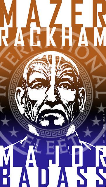 Major Rackham from teh Ender;s Game Movie played by Ben Kingsley artwork by Darian Robbins